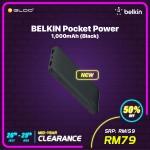 BELKIN POCKET POWER, 10,000 mAh - Black