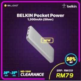 BELKIN POCKET POWER, 10,000 mAh - Silver