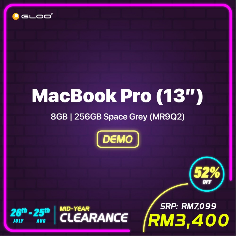 (2018) MacBook Pro (13'') 8GB, 256GB Space Grey (MR9Q2) (GJHC8)