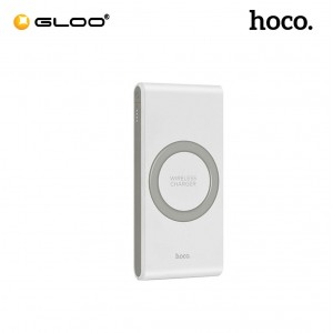 Hoco B32 Ultrathin 8000mAh Qi Wireless Charger External Battery Powerbank - White