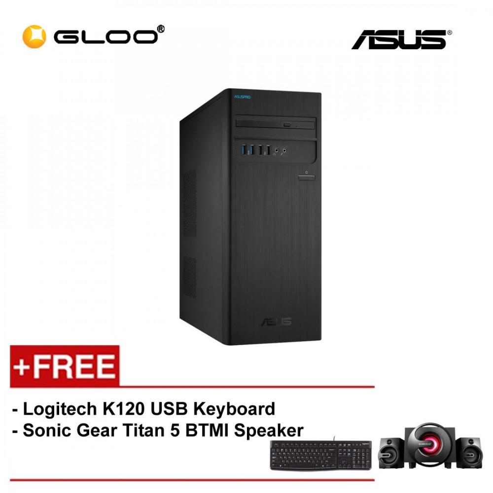 ASUS D340MC-I38100032R i3-8100/4G/1TB/W10 PRO/3YS ON-SITE/BLACK PC [FREE] Logitech K120 USB Keyboard + Sonic Gear Titan 5 BTMI Speaker