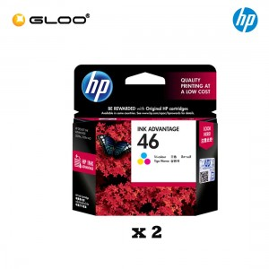 [2 Units] HP 46 Tri-color Original Ink Advantage Cartridge CZ638AA