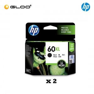 [2 Units] HP 60XL Black Original Ink Advantage Cartridge CC641WA
