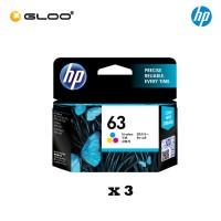 [3 Units] HP 63 Tri-color Original Ink Advantage Cartridge