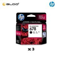 [3 Units] HP 678 Black Original Ink Advantage Cartridge CZ107AA