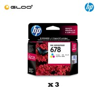 [3 Units] HP 678 Tri-color Original Ink Advantage Cartridge CZ108AA