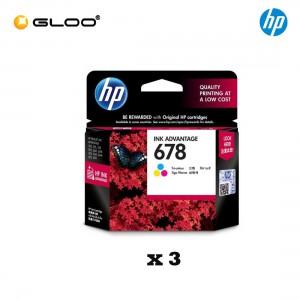 [3 Units] HP 678 Tri-color Original Ink Advantage Cartridge CZ108AA