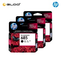 [3 Units] HP 685 Black Original Ink Advantage Cartridge CZ121AA