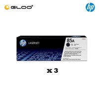 [3 Units] HP 85A Black Original LaserJet Toner Cartridge CE285A
