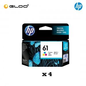 [4 Units] HP 61 Tri-color Original Ink Advantage Cartridge CH562WA