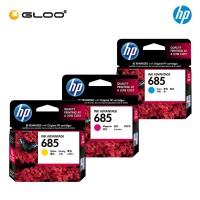 [3 Units] HP 685 Cyan Original Ink Advantage Cartridge CZ122AA + HP 685 Magenta Original Ink Advantage Cartridge CZ123AA + HP 685 Yellow Original Ink Advantage Cartridge CZ124AA