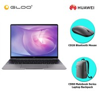 "Huawei MateBook 13 (Space Grey) 13"" i7-10510U/16GB/512GBSSD/MX250  (FREE Huawei CD20 Bluetooth Mouse Black + Huawei CD60 Matebook Series Laptop Backpack Grey)"