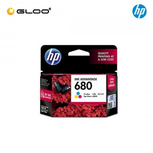 HP 680 Tri-color Original Ink Advantage Cartridge F6V26AA - HP DeskJet 1110/1115/2130/3630/3835/ 2135/ 2675/ 2676/ 2677/ 3786/ 5075/ 5076/ 5275/ 5276/HP ENVY 4520/HP OfficeJet 3830/4650