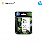 HP 704 Combo Pack Black/Tri-color Original Ink Advantage Cartridge F6V33AA
