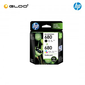 HP 680 Combo Pack Black/Tri-color Original Ink Advantage Cartridge X4E78AA [FREE T&GO or Grab E-credit]