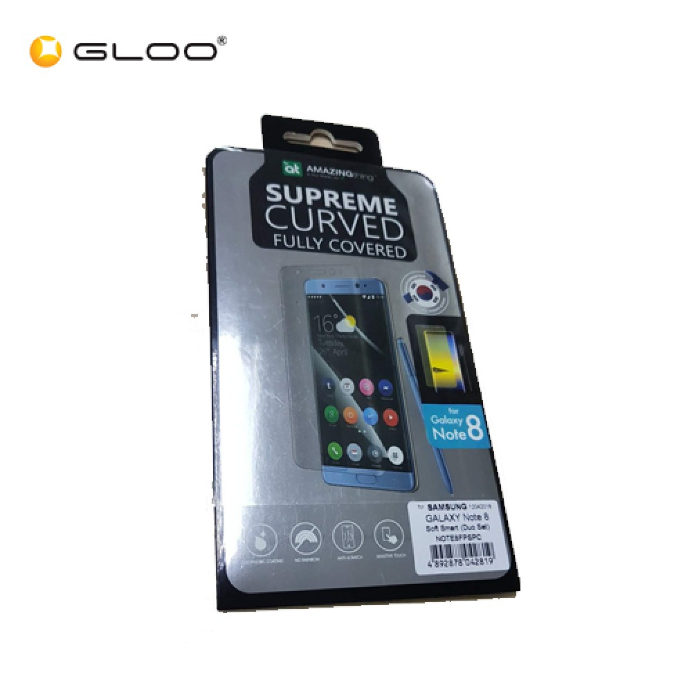 AMAZINGthing Samsung Galaxy Note 8 0.3mm 3D U-fit smart curved Fully Covered SupremeGlass