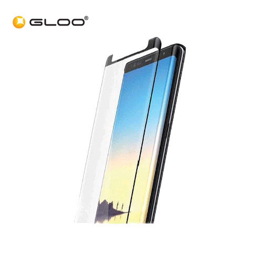 AMAZINGthing Samsung Galaxy Note 8 0.3mm 3D curved fit smart Fully Covered SupremeGlass (Black Framed)