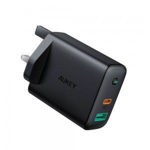 AUKEY PA-D1 Focus Dual-Port 30W PD Wall Charger with GaN Tech Dynamic Detect 608119198559