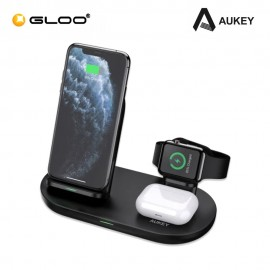 Aukey 3-in-1 AirCore Wireless Charging Station Stand Charging Dock LC-A3