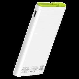 Hame X2 10000Mah Polymer Power Bank - White