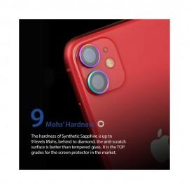 Hoda Sapphire Lens Protector iPhone 12 Mini/ iPhone 12/ iPhone 11 - Flamed Titanium (2PCS)