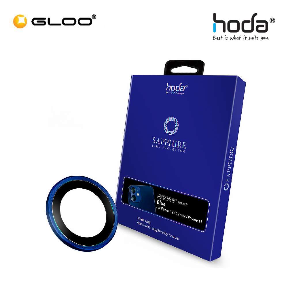 Hoda Sapphire Lens Protector iPhone 12 Mini/ iPhone 12/ iPhone 11 - Blue (2PCS)  4713381519707