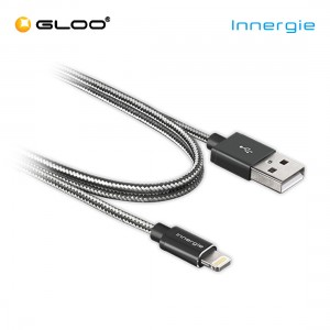 Innergie Braided Cable USB to Lightning (1m) - Black 4710901739294