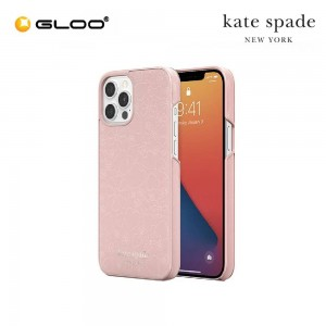 Kate Spade Wrap (for iPhone 12 Pro Max) Clover Heart Pale Vellum 191058123572