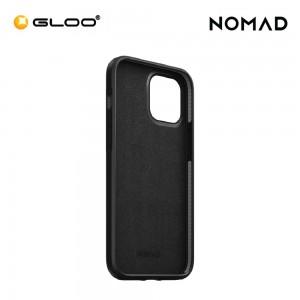 Nomad Rugged Leather Case iPhone 12/Pro - Black 856500019208