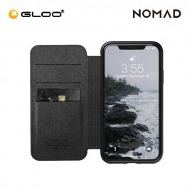 Nomad Leather Folio Case iPhone XR - Black 855848007793
