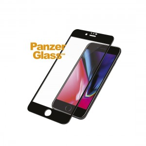 PanzerGlass CASE FRIENDLY iPhone 6/6s/7/8, Jet Black (2.5D)- 5711724026188