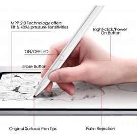 RENAISSER Raphael 520 Stylus Pen for Windows Surface - Silver 670924963660