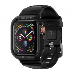 Spigen Apple Watch Series 4 Band 44mm - Rugged Armor Pro Black