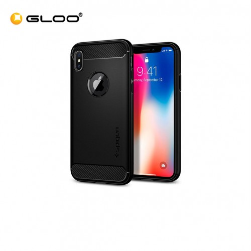 Spigen iPhone X Rugged Armor Matte Black 8809565300226