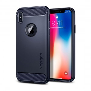 Spigen iPhone X Rugged Armor Midnight Blue 8809565300233