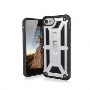 UAG iPhone 8/7/6S (4.7 Screen) Monarch Case - Platinum/Black 854778006678