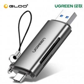 UGREEN USB-C+USB 3.0 TF/SD Card Reader with USB power-50706