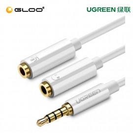 UGREEN 3.5mm Male to 2 Port 3.5mm Female Audio Stereo Y Splitter Cable Adapte -10789