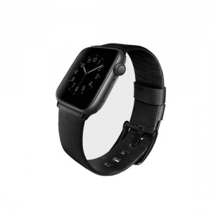 Uniq Mondain Apple Watch 44mm/42mm band - Black 8886463667736