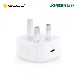 UGREEN USB-C 20W PD CHARGER, UK WHITE 60451