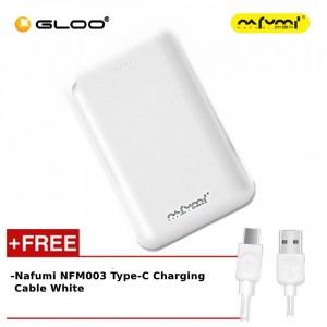 Nafumi B180 10000Mah Power Bank White + Nafumi NFM003 Type-C Charging Cable White
