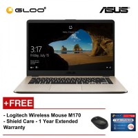 "ASUS Vivobook X505Z-ABR488T (R3-2200U,4GB,1TB,15.6"",W10,GOLD) [FREE] Logitech Wireless Mouse M170 + Shield Care 1 Year Extended Warranty"