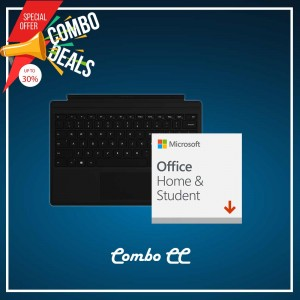 [COMBO CC] Surface Go Type Cover Black + Office 365 Home & Student (ESD)