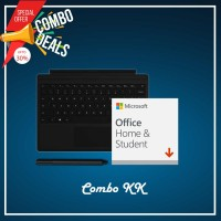 [COMBO KK] Surface Go Type Cover Black + Office 365 Home & Student (ESD) + Surface Pen Black