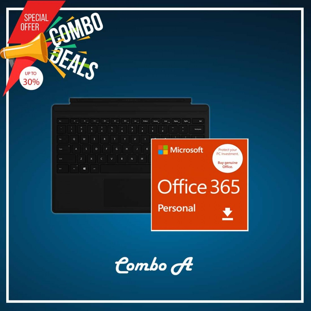 [COMBO A] Surface Go Type Cover Black + Office 365 Personal (ESD)