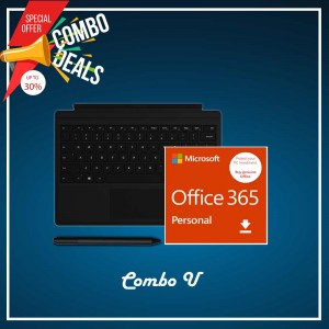 [COMBO U] Surface Go Type Cover Black + Office 365 Personal (ESD) + Surface Pen Black