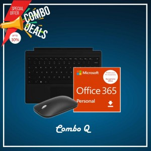 [COMBO Q] Surface Go Type Cover Black + Office 365 Personal (ESD) + Mobile Mouse Bluetooth Black
