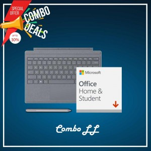 [COMBO LL] Surface Go Type Cover Platinum + Office 365 Home & Student (ESD)) + Surface Pen Platinum