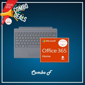 [COMBO F] Surface Go Type Cover Platinum + Office 365 Home (ESD)