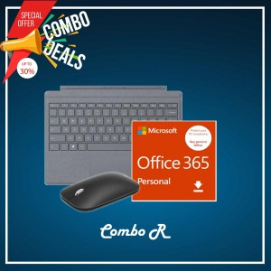[COMBO R] Surface Go Type Cover Platinum + Office 365 Personal (ESD) + Mobile Mouse Bluetooth Black